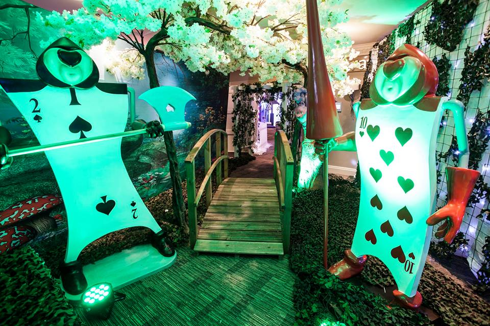 Alice in Wonderland Themed Venue Transformation