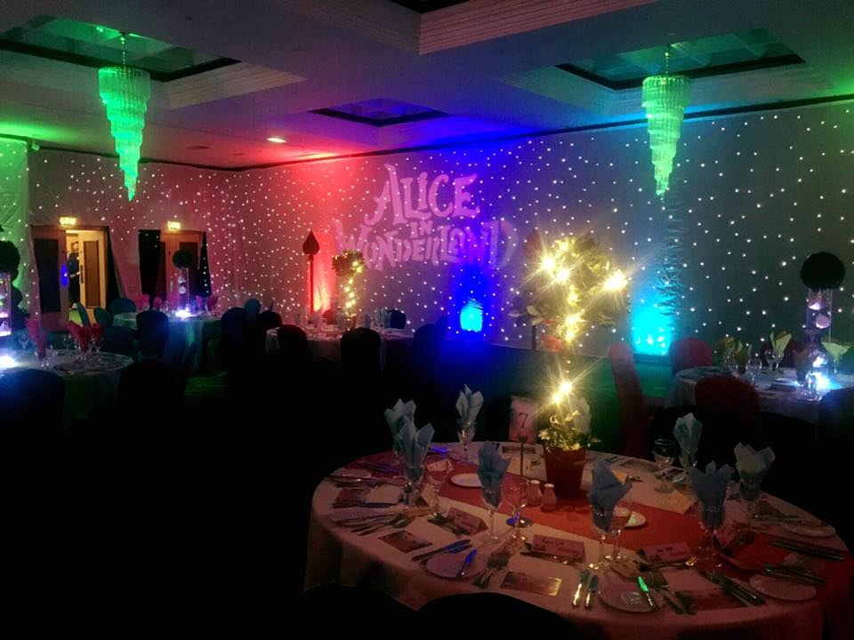 Alice in Wonderland Themed Event Room