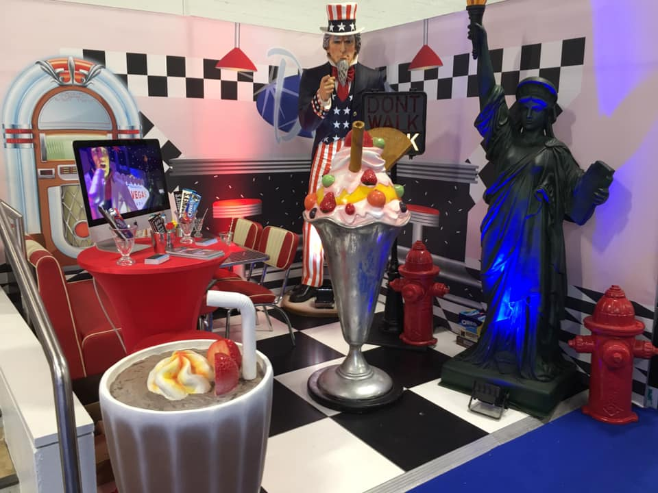 1950s Themed American Diner Decor