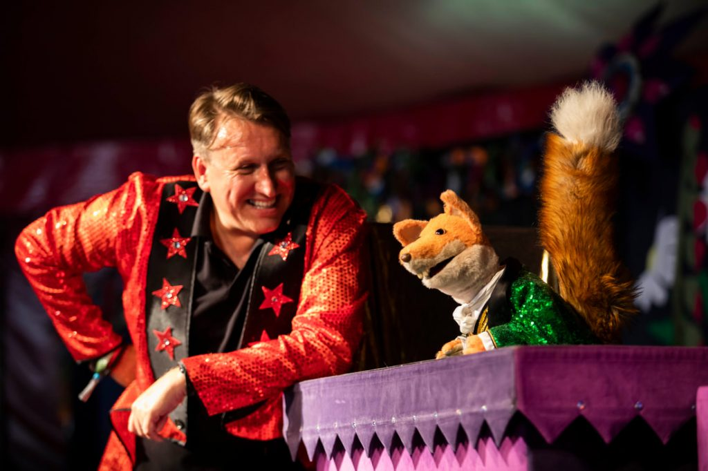 Basil Brush and Mr Martin