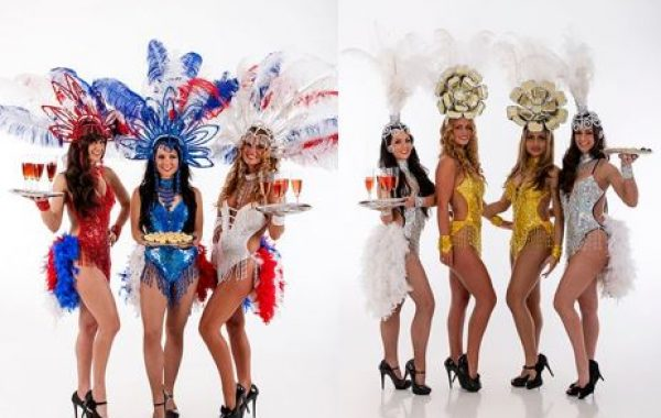 Showgirl Hostesses, Dancers & Stilt Walkers